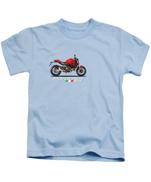 Ducati Monster 821 Kids T-Shirt by Mark Rogan