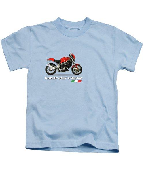 Ducati Monster S4 Sps Kids T-Shirt by Mark Rogan
