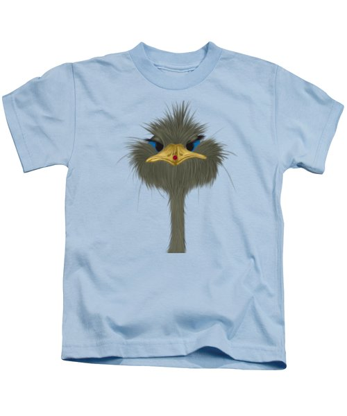 George And His Visitor  Kids T-Shirt by Michelle Brenmark