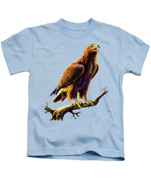 Golden Eagle Kids T-Shirt by Anthony Mwangi