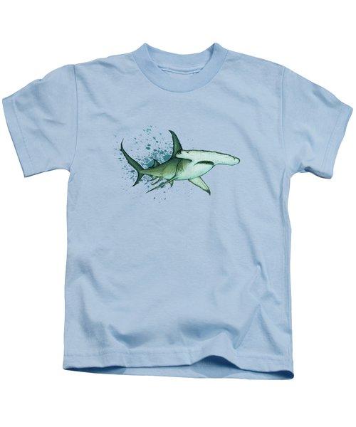 Great Hammerhead Shark  Kids T-Shirt by Amber Marine