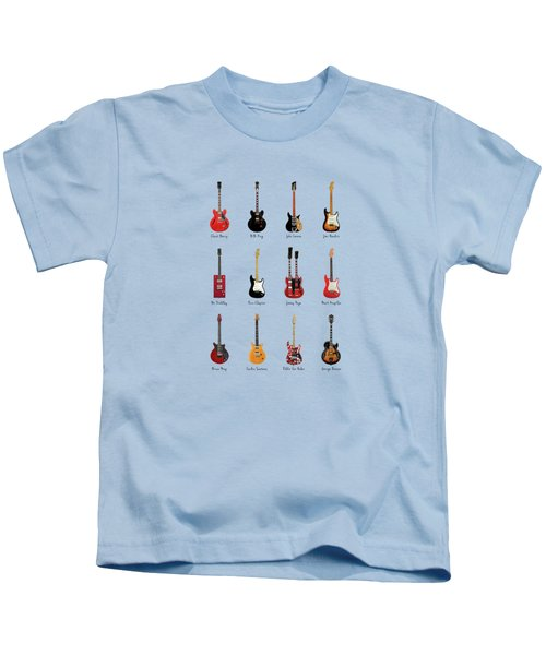 Guitar Icons No1 Kids T-Shirt by Mark Rogan