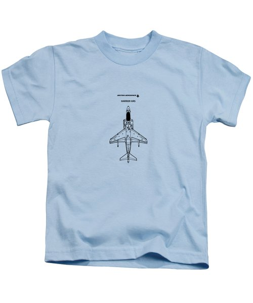 Harrier Gr5 Kids T-Shirt by Mark Rogan