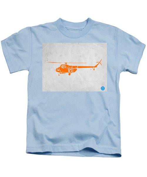 Helicopter Kids T-Shirt by Naxart Studio