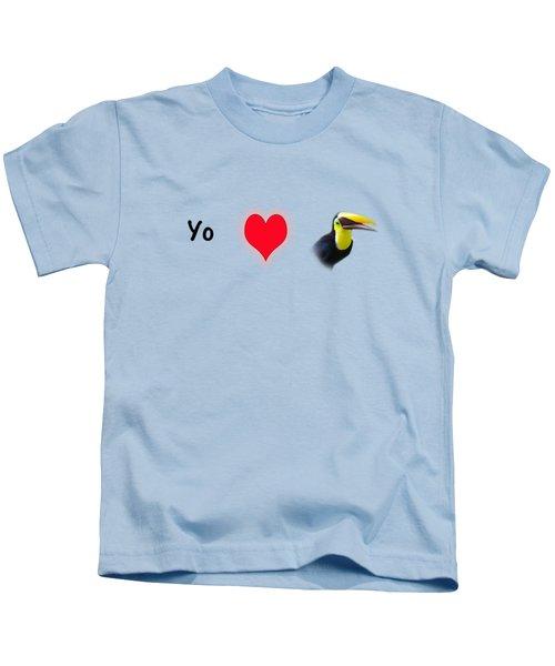 I Love Toucans Kids T-Shirt by Paul  Gerace