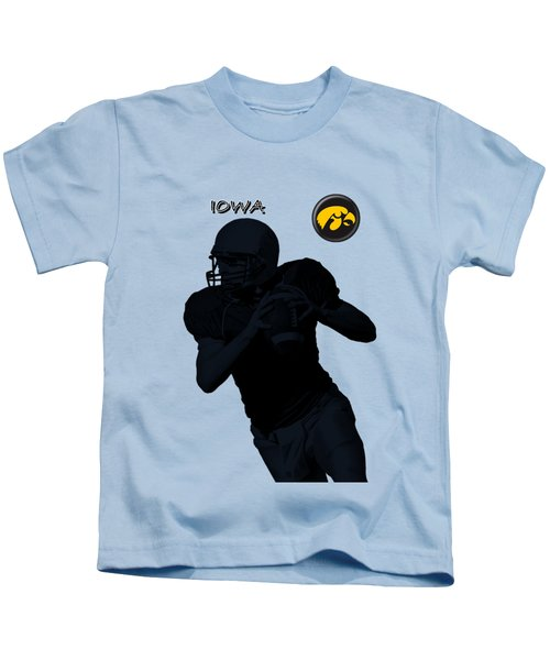 Iowa Football  Kids T-Shirt by David Dehner