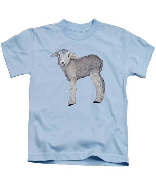 Lamb Kids T-Shirt by Petra Stephens