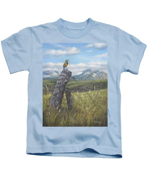 Meadowlark Serenade Kids T-Shirt by Kim Lockman