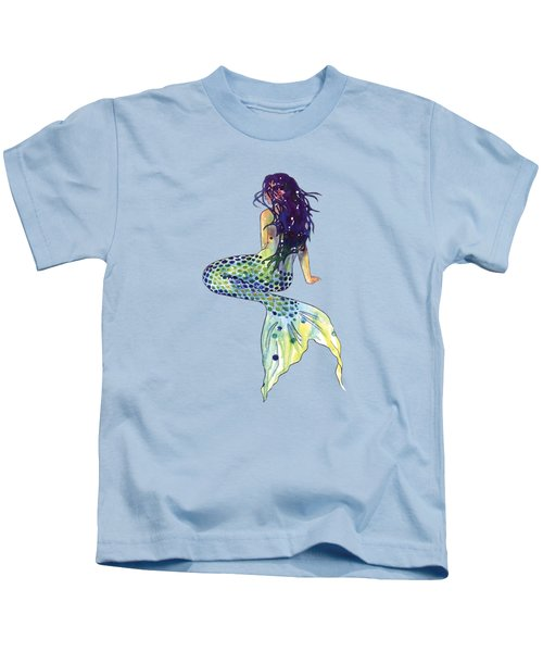 Mermaid Kids T-Shirt by Sam Nagel