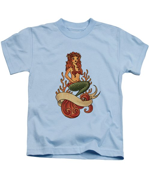 Mermaid Kids T-Shirt by Susan Wall