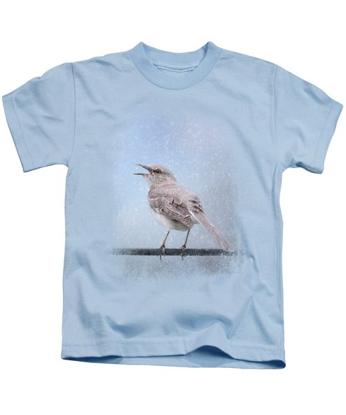 Mockingbird In The Snow Kids T-Shirt by Jai Johnson