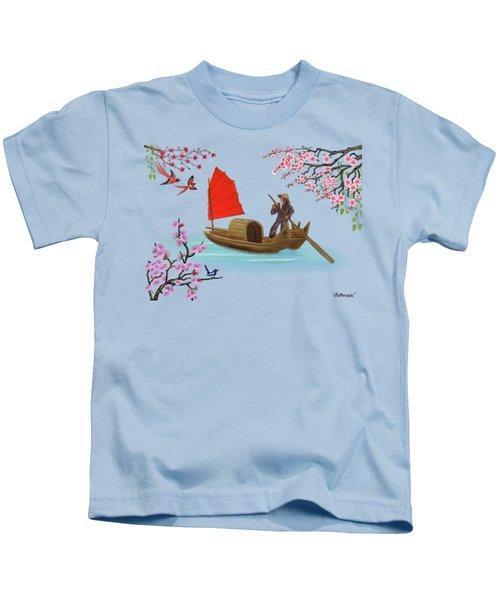 Peaceful Journey Kids T-Shirt by Glenn Holbrook