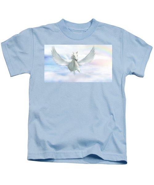 Pegasus Kids T-Shirt by John Edwards