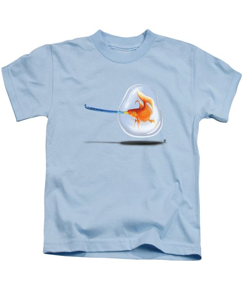 Popper Wordless Kids T-Shirt by Rob Snow