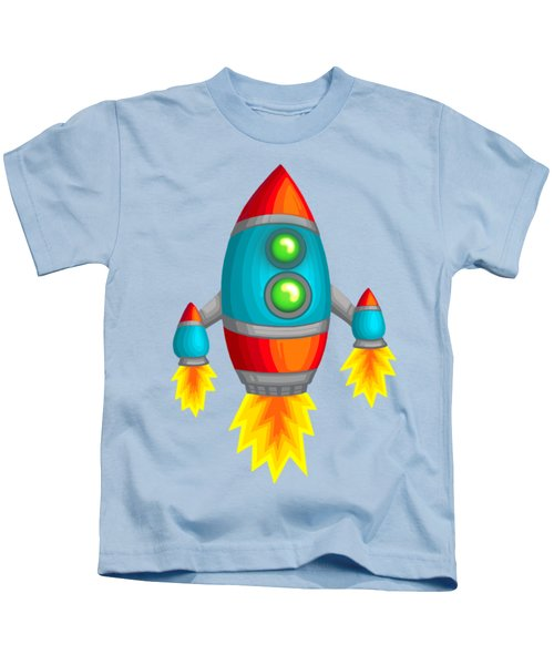 Retro Rocket Kids T-Shirt by Brian Kemper