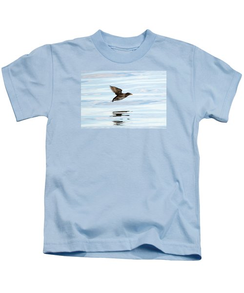 Rhinoceros Auklet Reflection Kids T-Shirt by Mike Dawson