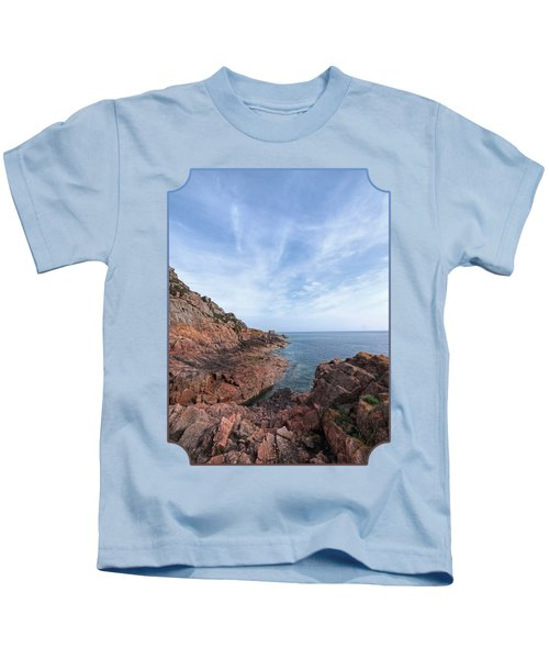 Rocky Ocean Inlet - Jersey Kids T-Shirt by Gill Billington