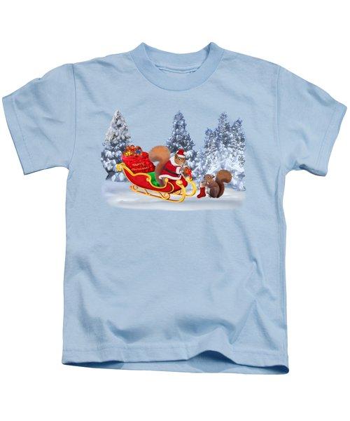 Santa's Little Helper Kids T-Shirt by Glenn Holbrook
