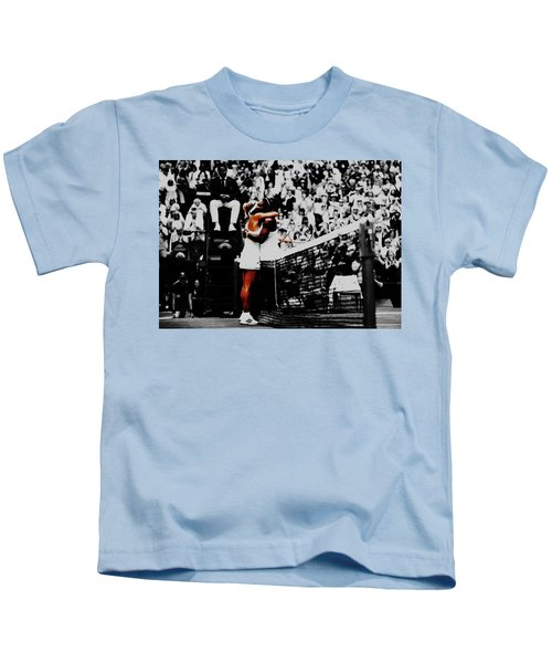 Serena Williams And Angelique Kerber Kids T-Shirt by Brian Reaves