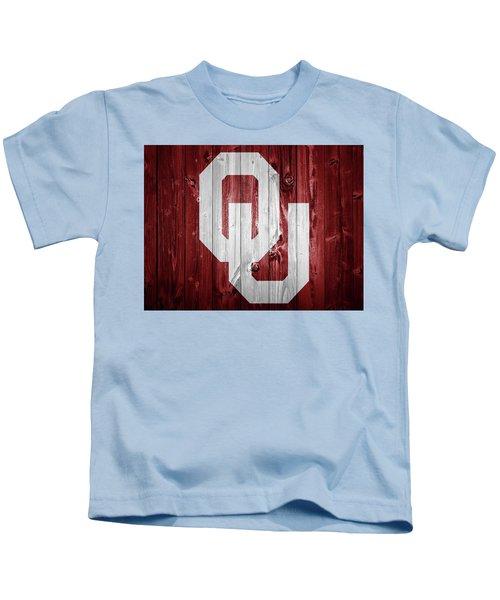 Sooners Barn Door Kids T-Shirt by Dan Sproul
