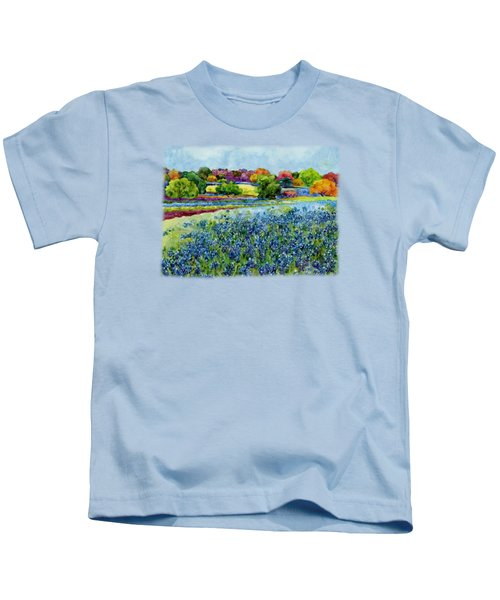 Spring Impressions Kids T-Shirt by Hailey E Herrera