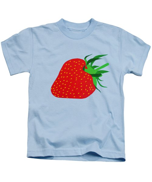 Strawberry Pop Remix Kids T-Shirt by Oliver Johnston