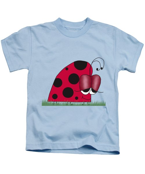 The Euphoric Ladybug Kids T-Shirt by Michelle Brenmark