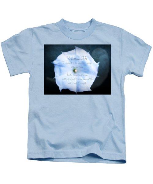The Last Trumpet - Verse Kids T-Shirt by Anita Faye