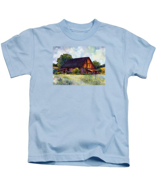 This Old Barn Kids T-Shirt by Hailey E Herrera