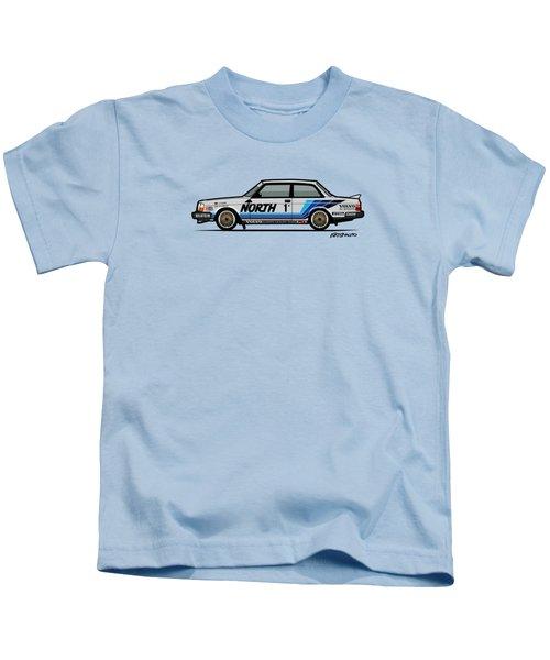 Volvo 240 242 Turbo Group A Homologation Race Car Kids T-Shirt by Monkey Crisis On Mars