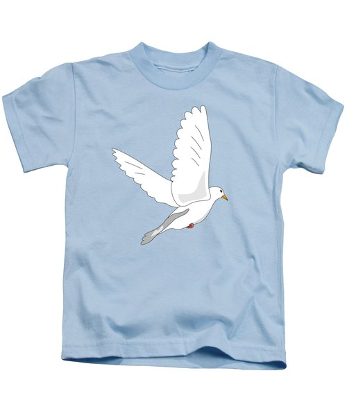 White Dove Kids T-Shirt by Miroslav Nemecek