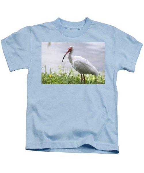 White Ibis  Kids T-Shirt by Saija  Lehtonen