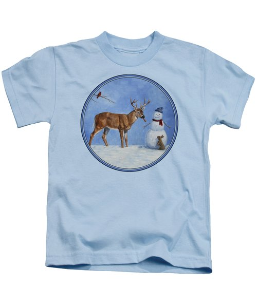 Whose Carrot Seasons Greeting Kids T-Shirt by Crista Forest