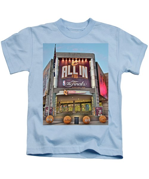 World Champion Cleveland Cavaliers Kids T-Shirt by Frozen in Time Fine Art Photography