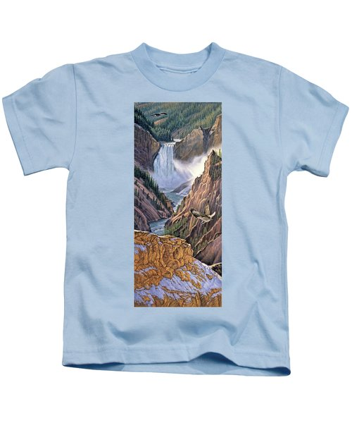 Yellowstone Canyon-osprey Kids T-Shirt by Paul Krapf