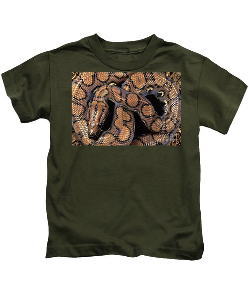 Brazilian Rainbow Boa Kids T-Shirt by Art Wolfe