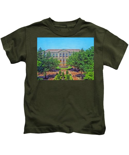 The Old Main - University Of Arkansas Kids T-Shirt by Mountain Dreams