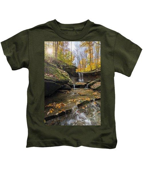 Autumn Flows Kids T-Shirt by James Dean