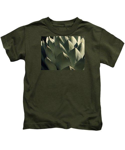 Blue Aloe Kids T-Shirt by Ellen Henneke