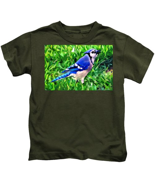 Blue Jay Kids T-Shirt by Stephen Younts