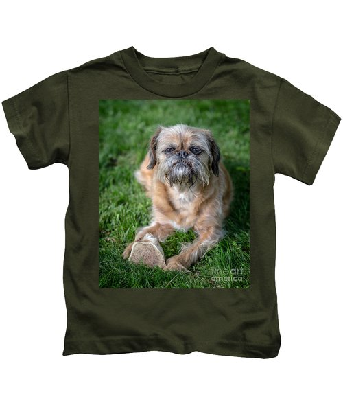 Brussels Griffon Kids T-Shirt by Edward Fielding