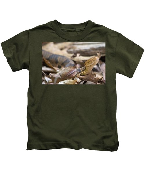 Copperhead In The Wild Kids T-Shirt by Betsy Knapp