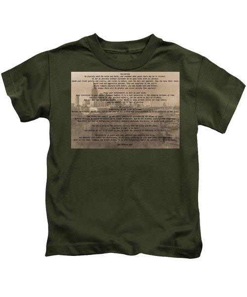 Desiderata Nashville Kids T-Shirt by Dan Sproul