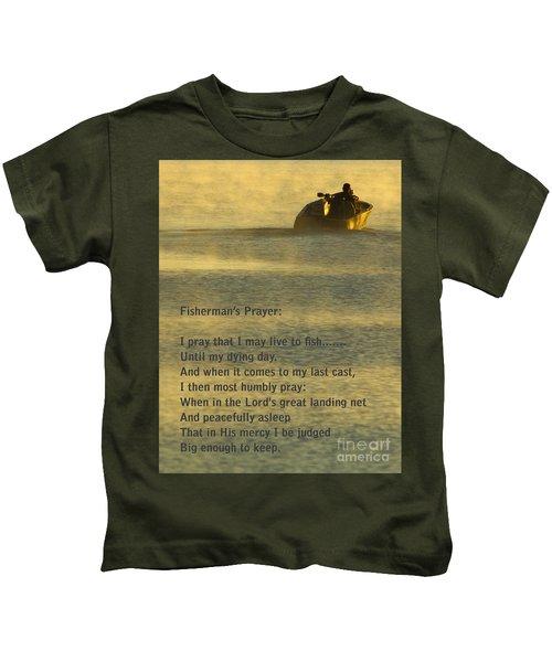 Fisherman's Prayer Kids T-Shirt by Robert Frederick