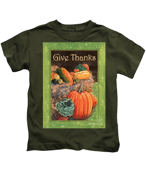 Give Thanks Kids T-Shirt by Debbie DeWitt
