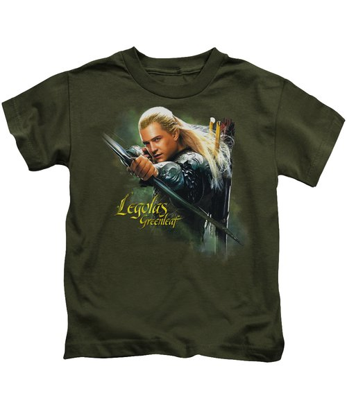 Hobbit - Legolas Greenleaf Kids T-Shirt by Brand A