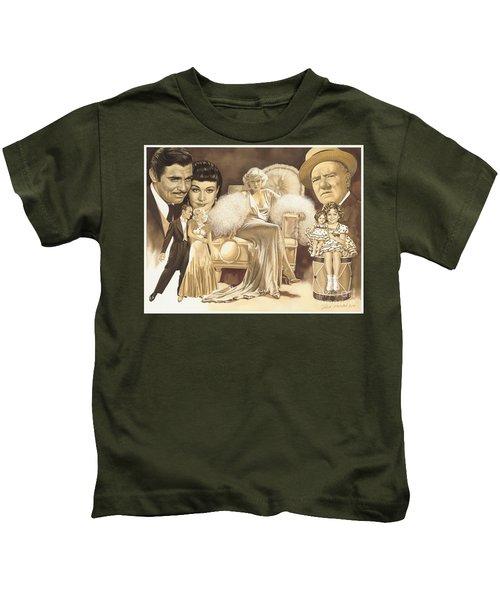 Hollywoods Golden Era Kids T-Shirt by Dick Bobnick