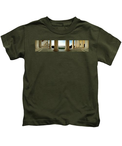 Jefferson Memorial Washington Dc Kids T-Shirt by Panoramic Images
