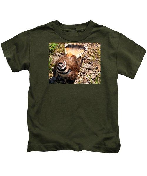 Killdeer On Its Nest Kids T-Shirt by Chris Flees