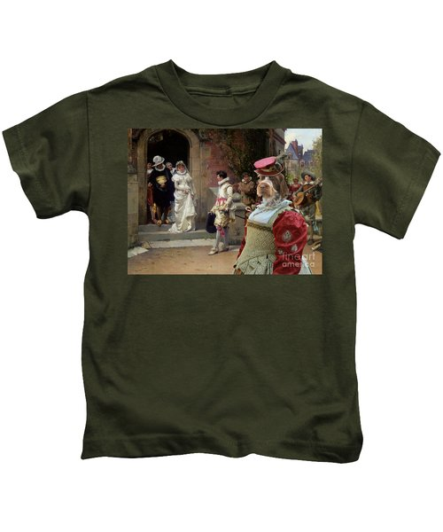 Korthals Pointing Griffon Art Canvas Print Kids T-Shirt by Sandra Sij